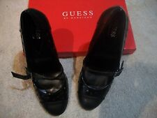 "GUESS by Marciano Ladies Sz 6M  Black Leather Pumps 4"" High Heels NWB"