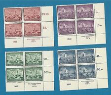 German occupation of Poland 92-95 / Lublin  cpl.  set sheets of four MNH ** !!