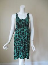 NWT Urban Outfitters Silence Noise Green See Through Back Stretch Dress S