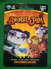 ANIMAL JAM 10 DIAMOND CARD 3 Month Membership National Geographic