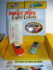 REEDITION DINKY TOYS COFFRET ATLAS COLLECTOR QUAI DE JAVEL CITROEN DS 2CV 1/43