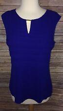 New Women's Calvin Klein Purple Sleeveless Tiered Top Medium NWTs $59