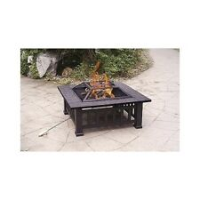 Outdoor Fire Pit Backyard Patio Garden StoveS quare  Fire Pit With Cover New