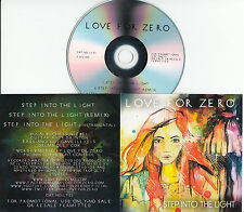 LOVE FOR ZERO Step Into The Light 2015 UK 3-trk promo test CD