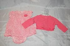 New Infant Girls Just One You by Carter's 2 Pc Pink Outfit Size 3 Months