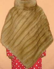 NEIMAN MARCUS Sable Fur Poncho Jacket Coat Size One Size Fit All Perfect Conditi