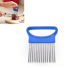 Guide Onion Holder Slicing Aid HOT NEW Vegetable Tomato Cutting Cutter Slicer