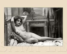 Vintage 1900s Pretty Nude Women Picture 8X10 Fine Art Print Photo Antique Old