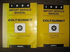 1994 DODGE CHRYSLER SERVICE MANAUL SET FOR COLT/SUMMIT VOL. 1 & 2