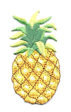 "Pineapple - Fruit - Tropical - Embroidered Iron On Applique Patch - 3""H"