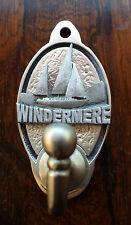 Lake District Windermere  Key Hook / Coat Hook (EXCLUSIVE DESIGN) Pewter Yacht