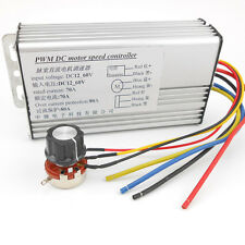 DC 12V-60V 70A 4000W Super Power Rectangle PWM Motor Speed Controller High Power