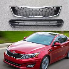 Replacement Front Upper + Lower Grills Grilles for Kia Optima K5 2014-2015