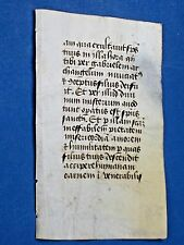 Rare unadorned Medieval Book of Hours Manuscript Leaf,Vellum,ca.1465