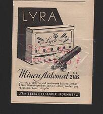 NÜRNBERG, Werbung 1941, Lyra-Orlow-Bleistiftfabrik Minen-Automat 2182