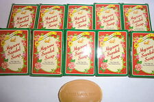 Mysore Sandalwood Oil (Superior)  GUEST SOAPS / TRAVEL  PACK OF 10 -17gm EACH