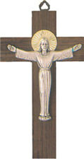 RISEN CHRIST CRUCIFIX WOODEN CROSS METAL CORPUS STATUES CANDLES PICTURES LISTED.