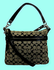 COACH 30902 POPPY PERRI HIPPIE Signature Fabric X-Body Bag Msrp $195.00