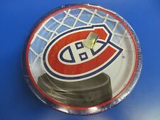 """Montreal Canadiens NHL Pro Hockey Sports Banquet Party 9"""" Paper Dinner Plates"""