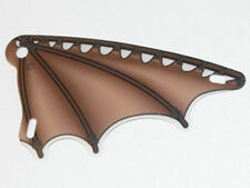 LEGO - Plastic Triangle 6 x 12 Scalloped Wing w/ Leather & Stick Pattern - Brown