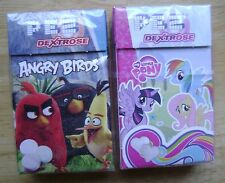 2 EUROPEAN PEZ BOXES NEW ANGRY BIRDS MY LITTLE PONY DEXTROSE CANDIES