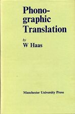 Phono-graphic Translation (Mont Follick Series) by Haas, William H.  (hardback)