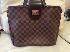 Authentic Louis Vuitton cabas Rosebery damier ebene hand bag tote purse receipt