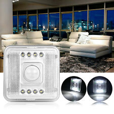 8 LED Automatic PIR Motion Sensor Stair Hall Night Light Lamp Battery Powered