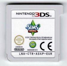 THE Sims 3 Pets NINTENDO 3DS 2DS GIOCO CARTUCCIA SOLO CARRELLO