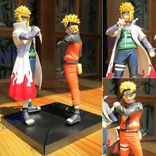 Collections Anime Naruto Namikaze Minato Figure Toy Figurine 2pcs 15cm