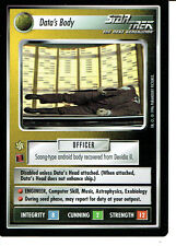 STAR TREK CCG Q CONTINUUM RARE CARD DATA'S BODY