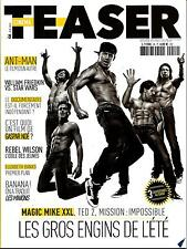 CINEMA TEASER N°46 ETE 2015 MAGIC MIKE-TATUM/ MISSION:IMPOSSIBLE-CRUISE/WAHLBERG