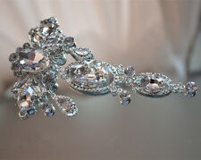 SPLENDIDA APPLIQUE DA SPOSA STRASS MATRIMONIO Applique Diamante Trim Perline Motif