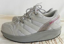 MBT Sport 04 Sliver Gray Performance Toning Shoes Lace Up Size 6.5M
