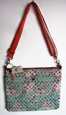 Fossil Womens Blue Multi Keyper Top Zip Bag #ZB5757403 NWT