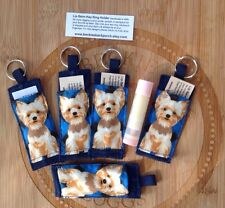 Chapstick Holder Fob Key Chain, Gift Giving For Teacher, Teens, Yorkie Pup