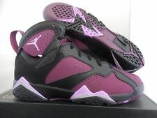 NIKE AIR JORDAN 7 RETRO GG BLACK-MULBERRY SZ 4Y-WOMENS SZ 5.5 [442960-009]
