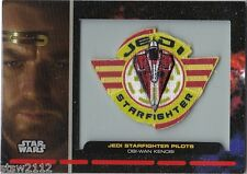 STAR WARS GALACTIC FILES PR-12 EMBROIDERED PATCH JEDI STARFIGHTER PILOT OBI-WAN