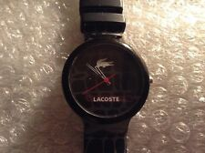 """Authentic LaCoste """"Black Goa Collection"""" Water Resistant Watch"""