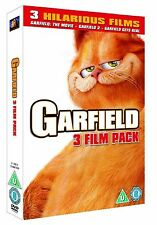 GARFIELD TRILOGY COMPLETE COLLECTION DVD SET PART 1 2 3 ALL MOVIE FILM NEW