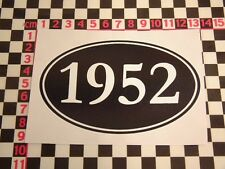1952 Year Sticker - Zephyr Consul Daimler Conquest A99 Austin Somerset Birthday