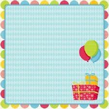 Scrapbook Paper 3D BIRTHDAY GIFTS 12 x 12 inches 2 Sheets   BBE