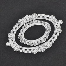 2 Pcs Oval Template Cutting Dies Scrapbooking Lace Hollow Out DIY Album Decor