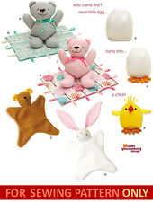 SALE! SEWING PATTERN! MAKE BABY ANIMAL BLANKIE~BLANKET! STUFFED~PLUSH CLOTH TOY!