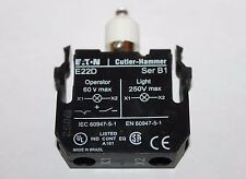 Eaton Cutler Hammer E22DL24W E22D Contact Light Module White LED Bulb Lamp 24V