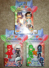 PJ MASKS FIGURES DUET 2 PACKS OWLETTE LUNA GIRL GEKKO NIGHT NINJA ROMEO CATBOY