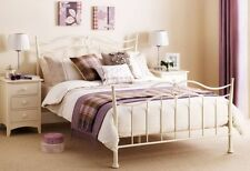 Katrina Metal Bed Frame In Cream Double 135cm 4'6""