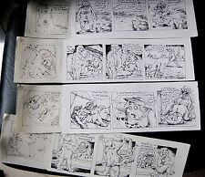 Beau lot de 4 Bandes dessinées Érotico-HumourNoir (encre Noir et Blanc) n.s.