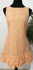 Lilly Pulitzer Cotton Women's Yellow Pink Floral Lace Spring Summer Dress Sz 0.