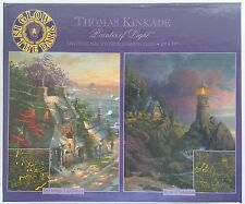 CEACO® 2 Pack 500pc SUNSET GLOW • THOMAS KINKADE #1 Jig Saw Puzzle GLOWS IN DARK